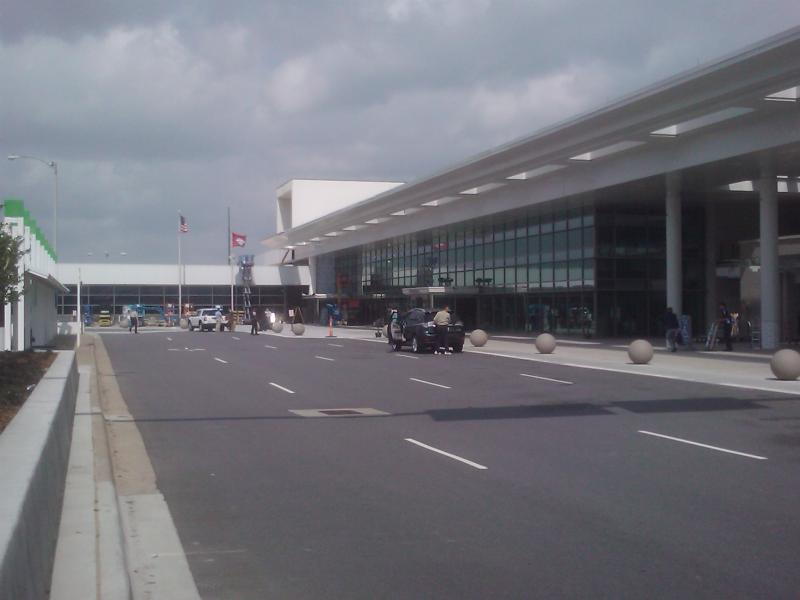 A view from the front of Clinton National Airport