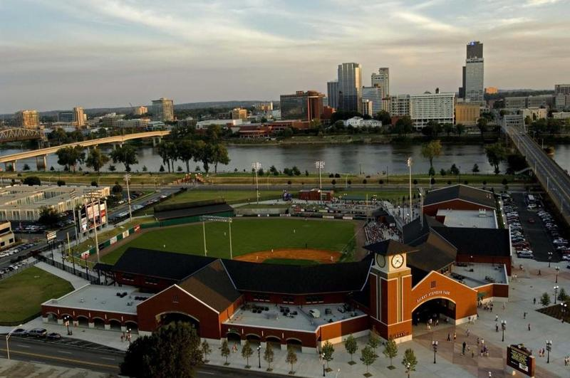 Dickey-Stephens Park in North Little Rock is home to the Arkansas Travelers.