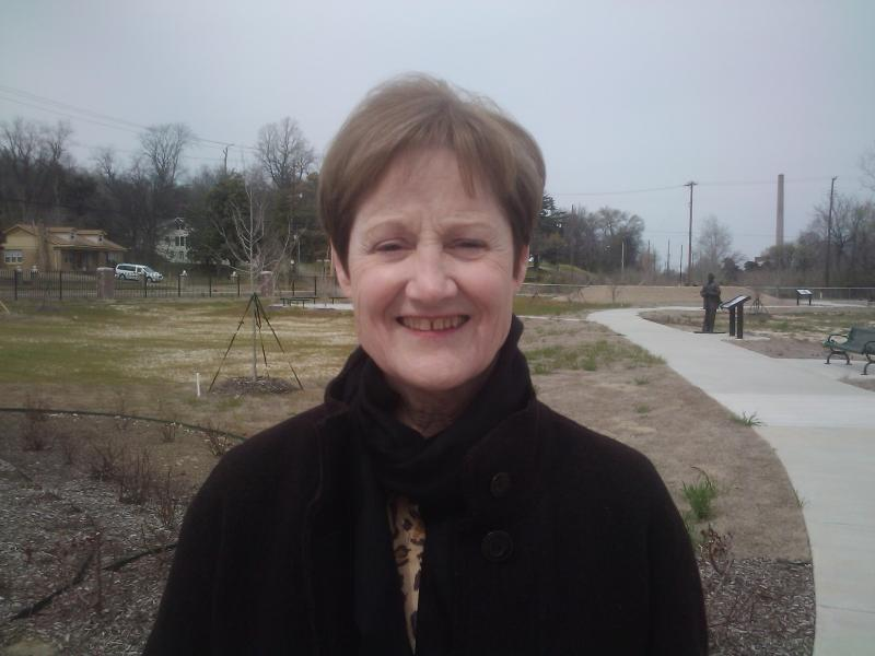 Cathy Cunningham at Freedom Park in Helena-West Helena.