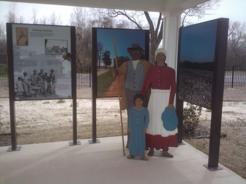 An exhibit at Freedom Park.