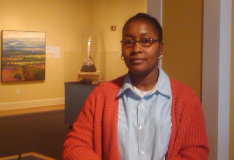 Tanya Thomas inside the Delta Cultural Center.