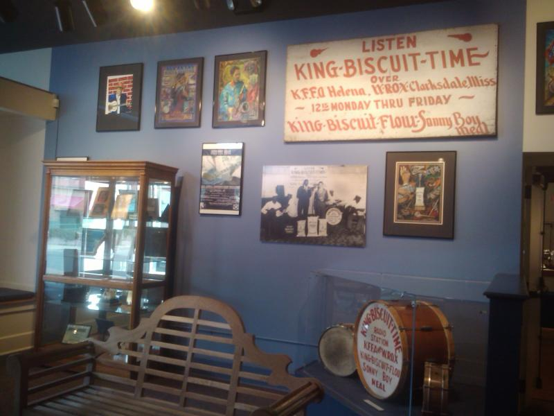 Music memorabilia inside the Delta Cultural Center.