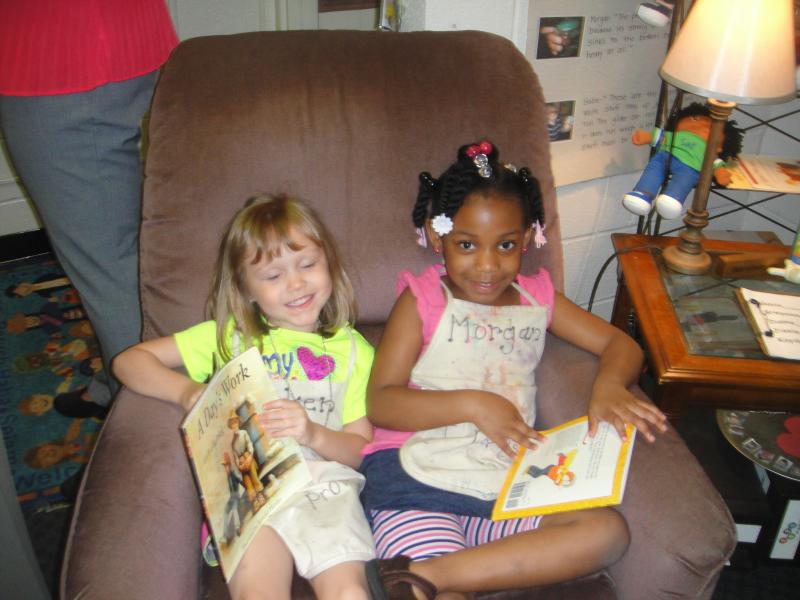 Pre-K students who love to read