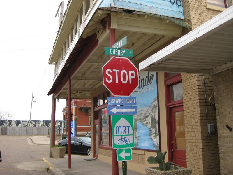 Street signs in downtown Helena.