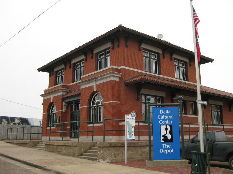 The Delta Cultural Center's Depot Museum in downtown Helena.