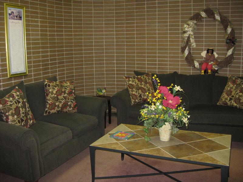 The waiting room inside the Family Center.