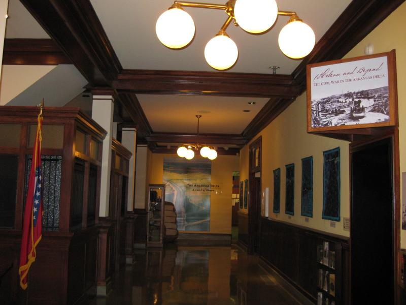 The lobby in the Depot Museum