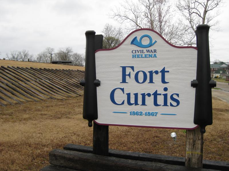 The Fort Curtis historic site.
