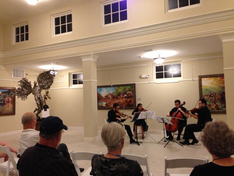 A Festival String Quartet performs music of Schubert on Saturday in Hot Springs.