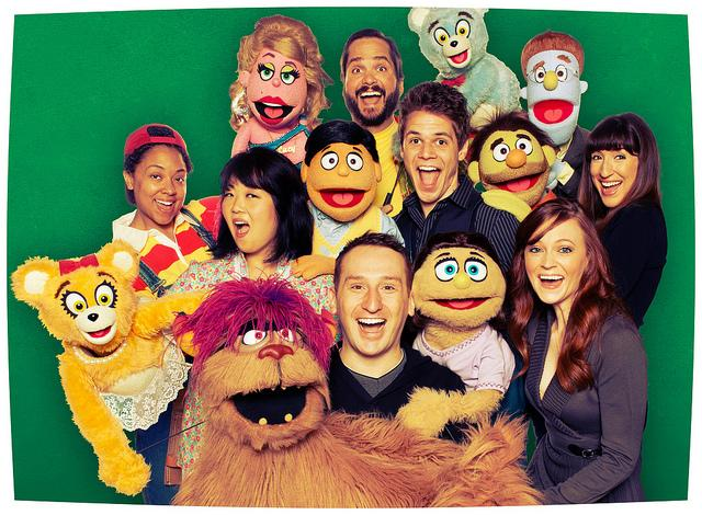 The cast of Arkansas Repertory Theatre's production of Avenue Q