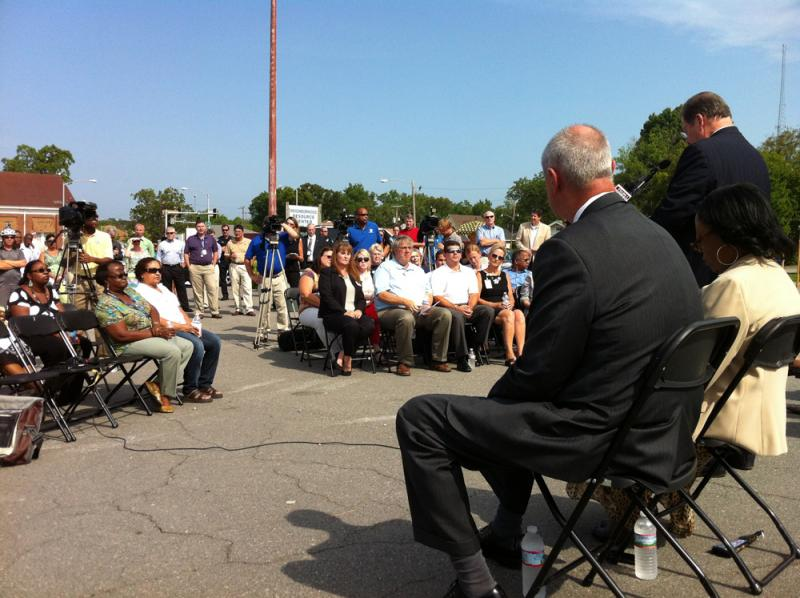 The crowd at Tuesday's groundbreaking for the 12th Street sub-station.