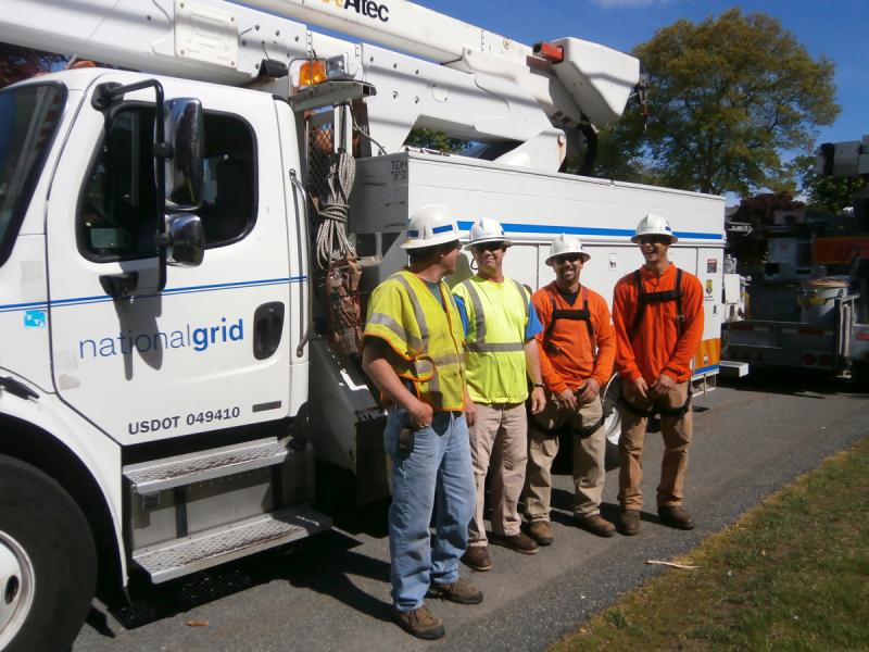 Crews like the National Grid workmen are on the front lines of grid repair when something goes wrong with the system.