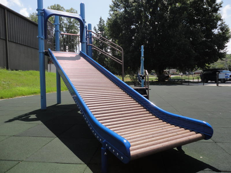 A special slide for disabled children.