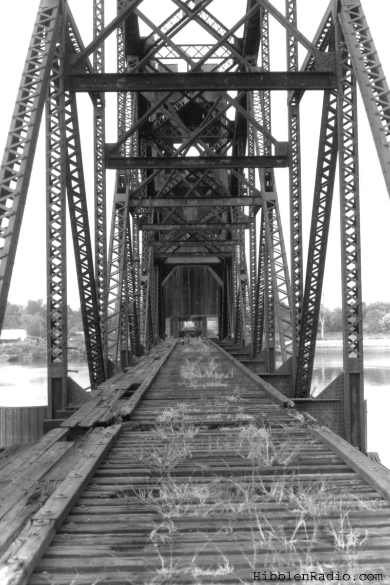 Looking north through the bridge in 1994, with the rails having been removed.