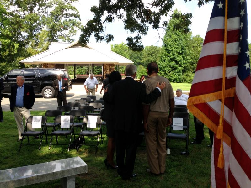 Governor Mike Beebe at the Arkansas Veterans Cemetery