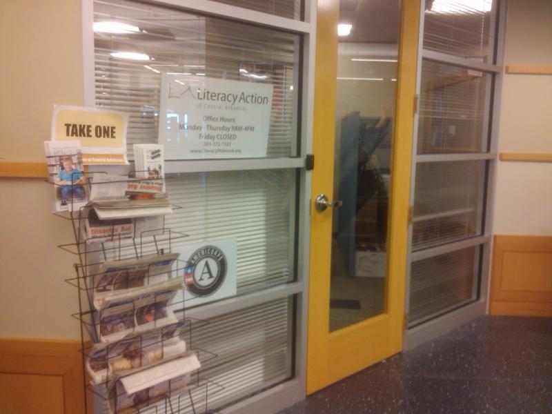 The Literacy Action offices on the fifth floor of the Main Library in downtown Little Rock.