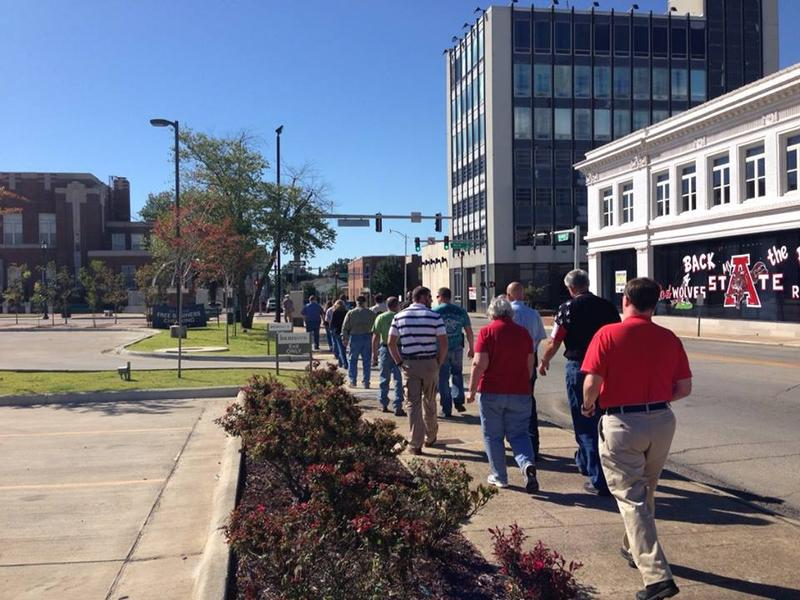 Downtown Jonesboro in 2013 during an unrelated rally.