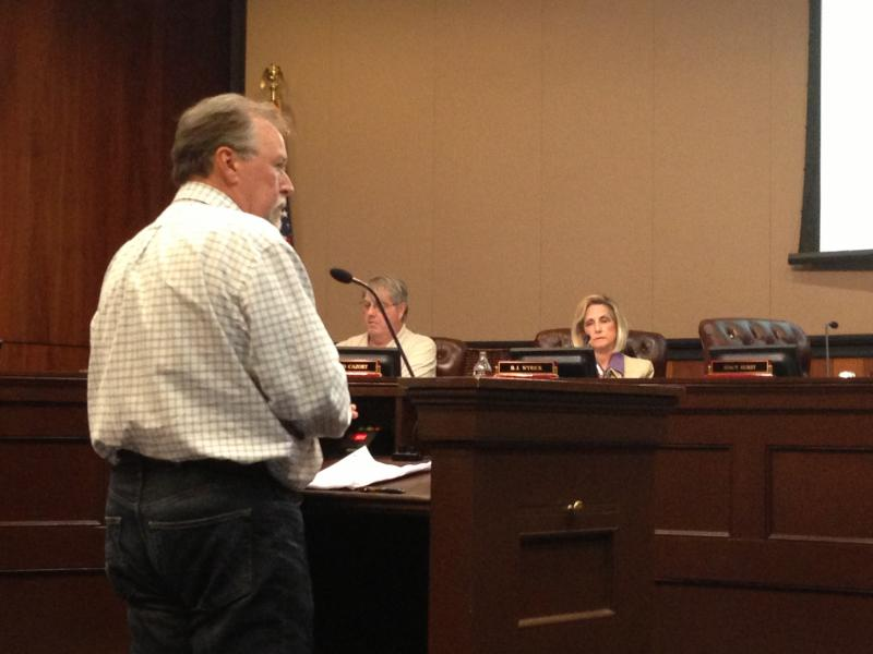 Mark Abernathy at City Hall