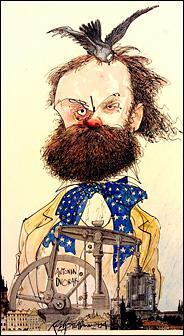 Composer Antonin Dvorak, in a caricature by Ralph Steadman.