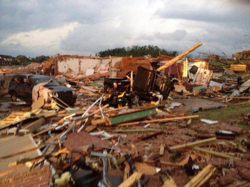 File photo of tornado damage near Mayflower.