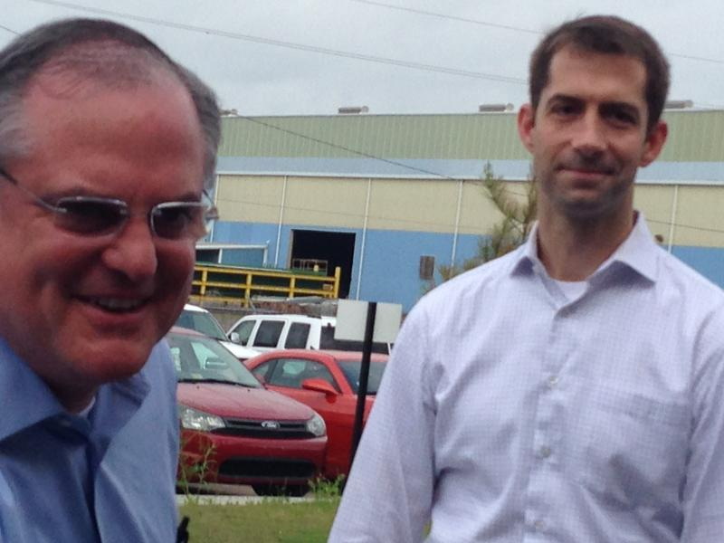 Senator Mark Pryor and Representative Tom Cotton