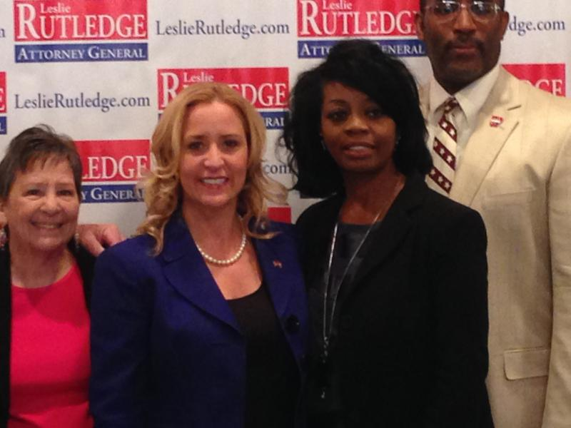 (from left) Leslie Rutledge, Patricia Nation