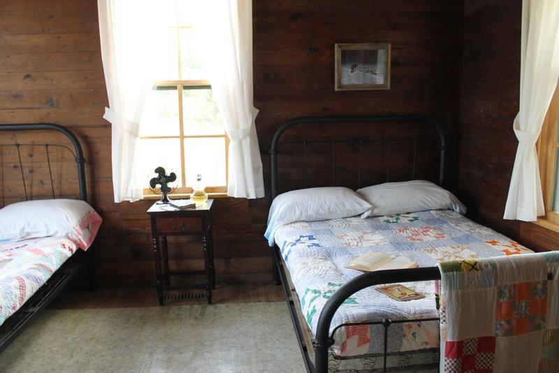 One of the bedroom's in Johnny Cash's boyhood home.