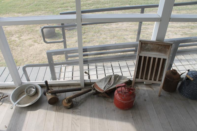 Tools on the back porch of Johnny Cash's boyhood home.