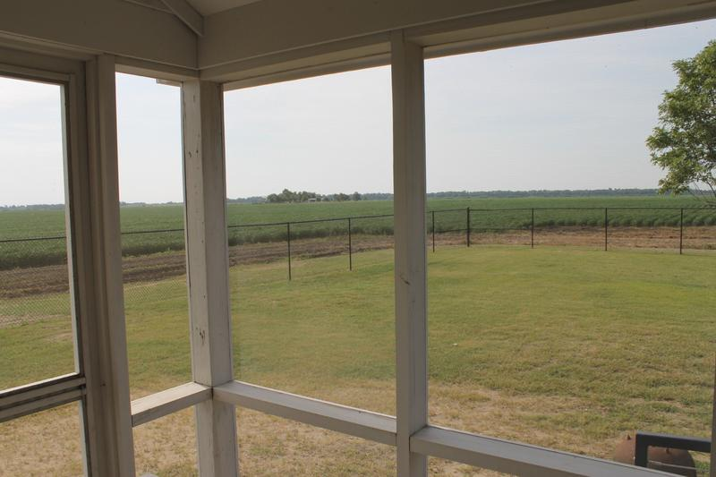 Looking out from the porch of Johnny Cash's boyhood home.