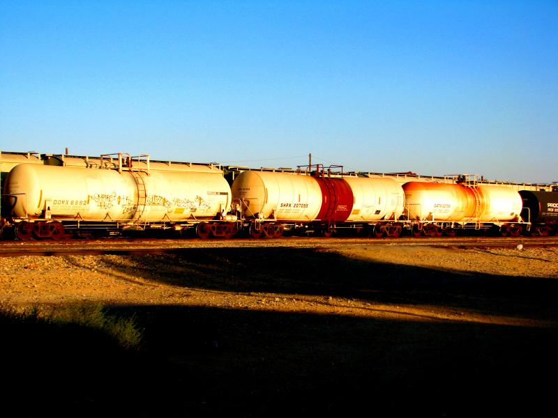 Oil train tanker cars