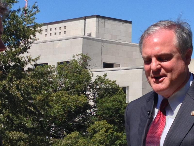 U.S. Senator Mark Pryor on state Capitol grounds.