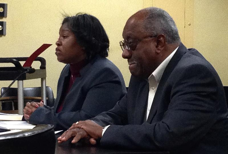(left) AFHC Exec. Dir. Carol Johnson testifying to Leg. Audit - State Agencies in November.