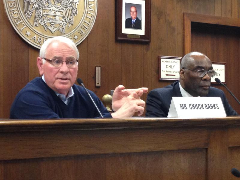 Independent Citizens Commission Chair Larry Ross (right) and Vice Chair Chuck Banks.