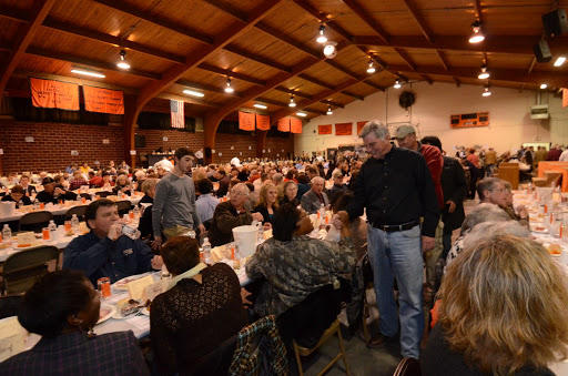 A scene from the 2014 Gillett Coon Supper.