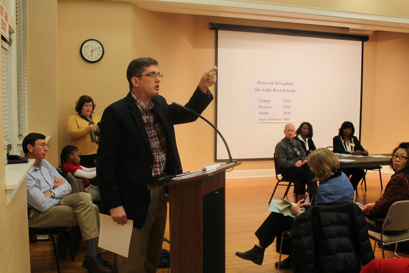 School Board member Jim Ross talks about failing literacy levels in the district.