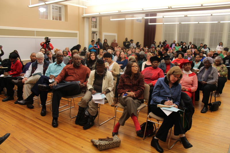 A community forum held January 26th on possible state intervention.