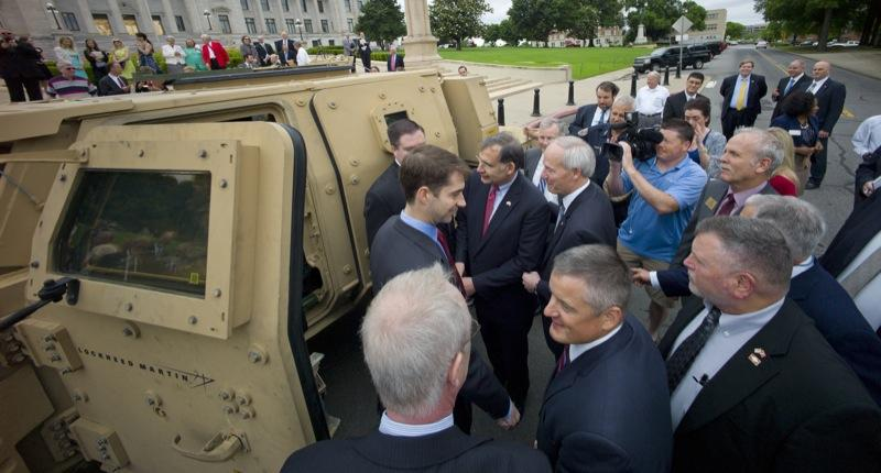 military vehicle lockheed martin tom cotton asa hutchinson