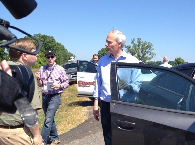 Governor Asa Hutchinson flood