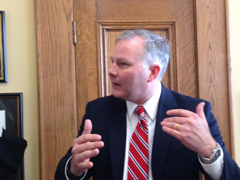 Lt. Gov Tim Griffin (R-Ark) outside his office.