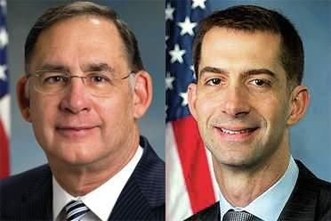 (left to right) U.S. Sen. John Boozman (R-Rogers) and U.S. Sen. Tom Cotton (R-Dardanelle).
