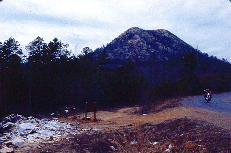 Park property before the cleanup, near where the Arkansas Arboretum is today.