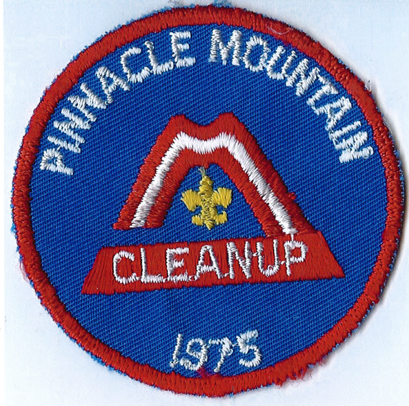 Patch received by Boy Scouts after the cleanup.