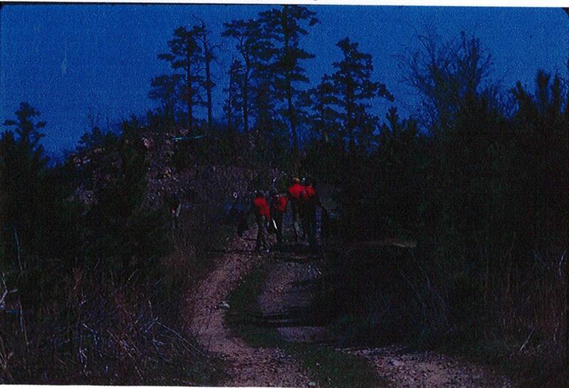 Volunteers on the East Quarry Overlook trail.