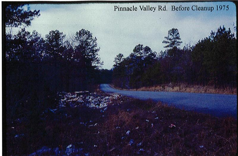 Pinnacle Valley Road before cleanup.