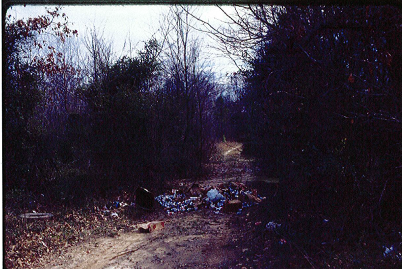 One of the many dumps in the park before the cleanup.