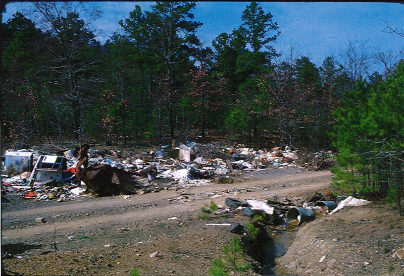 Another area in the park being used as a dump.