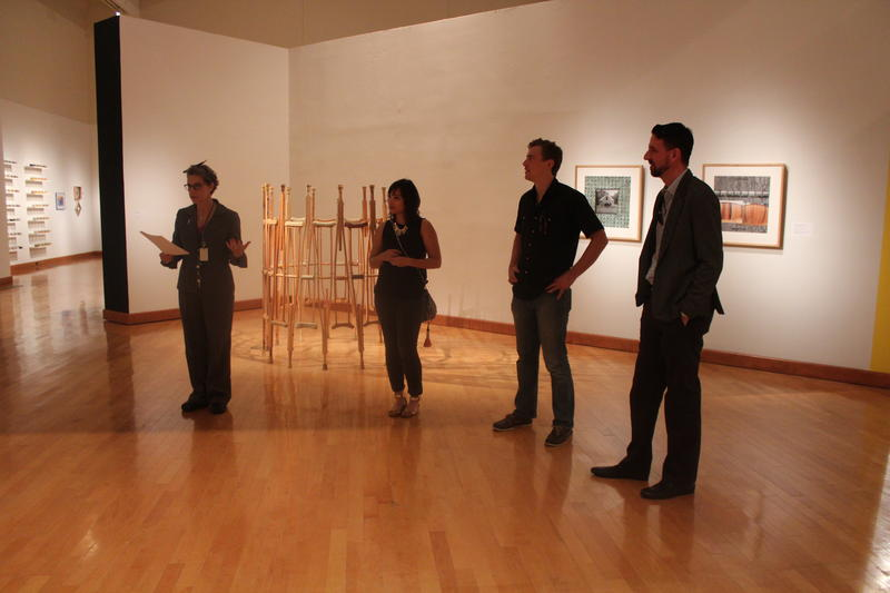Delta Exhibition artists speak about their work at the show.