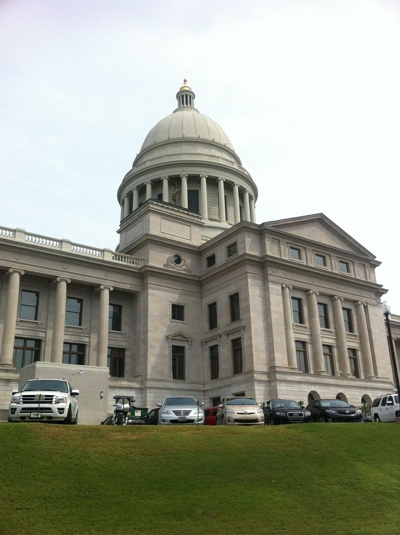 Arkansas state capitol building.