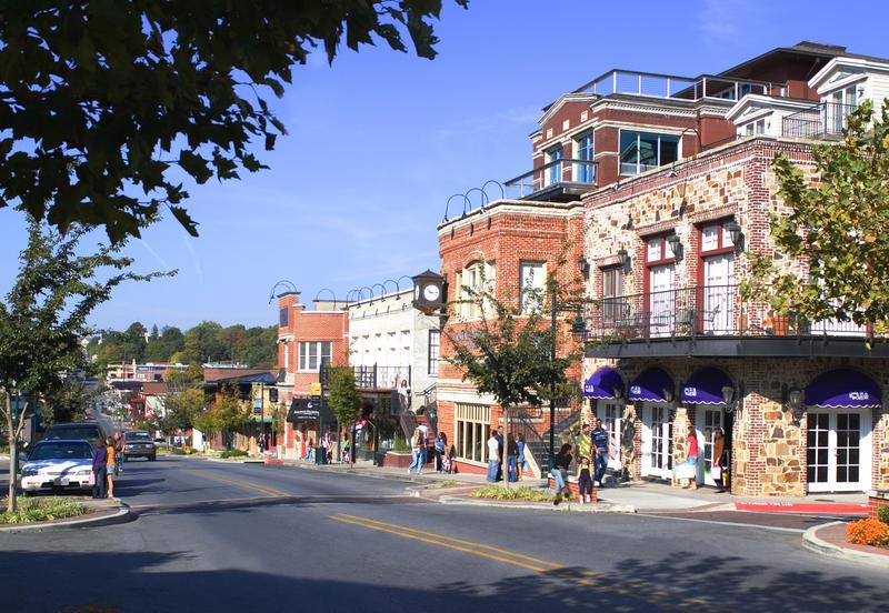 Downtown Fayetteville, Arkansas.