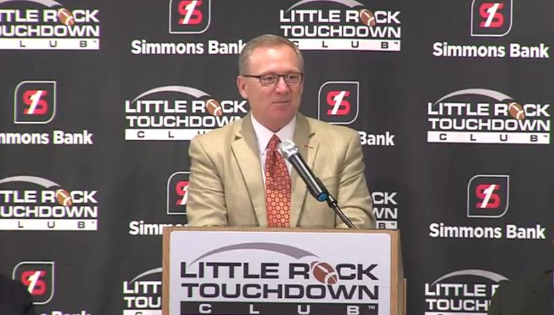 University of Arkansas Athletic Director Jeff Long at the Little Rock Touchdown Club.
